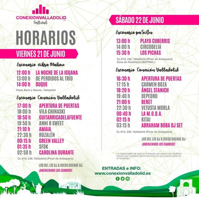 horarios Conexión Valladolid